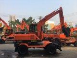 Brand-New chino de las principales marcas de excavadoras de ruedas de la cuchara 7.0 ton para la venta