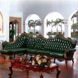 ホーム家具(803)のための旧式な革角のソファー