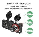 12V/24V Adapter van de Macht van de Lader USB van de Splitser van de Contactdoos van de Aansteker van de auto de Dubbele