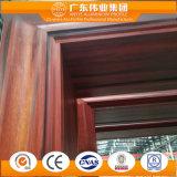 装飾的な端が付いているアルミニウム開き窓のドア
