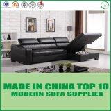 Modernes Möbel-Leder-Ecken-Sofa-Bett