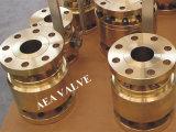 ASME B16.34/BS5351/API6d forjó la vávula de bola sellada suave de acero de flotación del asiento