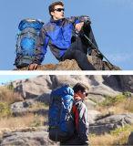 El morral al aire libre del morral del recorrido, hombros 60L impermeabiliza bolsos que acampan