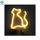 창조적인 벽 커튼 네온 밤 빛 고양이 LED 빛