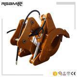 La entrega de residuos Rsbm tenazas de registro de la excavadora