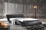 Moderner Form-doppeltes Bett-Entwurfs-modernes Schlafzimmer-Möbel-Leder-Bett