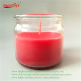 Rot-reisende starke aromatische Glas-Kerze mit Kristallkappe