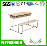 Mesa barata e banco da escola preliminar do preço para 3 pessoas Sf-39d