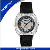 La mode montre à quartz de l'eau en acier inoxydable résistant à l'affaire horlogère suisse