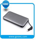 Batería de la potencia de la tarjeta de la capacidad plena 8000mAh con el cable incorporado Andriod/IOS