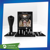 Custom Acrylic Cosmetics Display, Plexi L-Shape Make-up Display