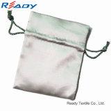 2017新しい両方側面のJewelry&Giftのための灰色のサテンのドローストリングの袋