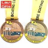 Cheap Wholesale Custom Premio Medalla de la competencia deportiva de metal con cinta