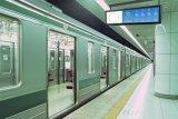 새로운 도착 지하철 바 전시