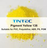 O pigmento amarelo 138 para plástico (igual a BASF e a Clariant)