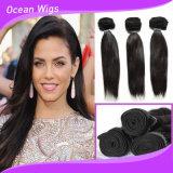 卸売価格の標準的でまっすぐなペルーのバージンのRemyの毛のよこ糸100%の人間の毛髪