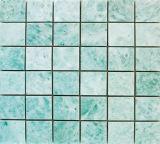 Marmorglaskristallmosaik-Fliese-Badezimmer-Swimmingpool-Wasser-Merkmals-Entwurf