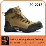 Zapatos de seguridad de acero del casquillo de la punta del hombre de la alta calidad Sc-2218