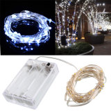 Indicatore luminoso d'argento a pile impermeabile del riso del collegare LED per la decorazione di festa
