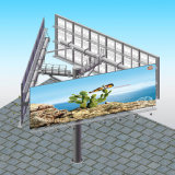 La cara al aire libre tres que hacía publicidad de la estructura de acero Unipole utilizó la cartelera