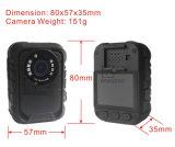 HD 1296pの警察の機密保護のボディによって身に着けられているカメラの夜間視界の動きの検出IRの携帯用個人的