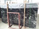 Schwarzer Marmorbodenbelag-Fliese-Silber-Drache-Chinaschwarzer MarmorCountertop