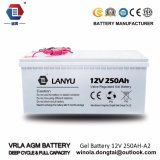 Ah батарея AGM свинцовокислотной батареи батареи геля 12V 250