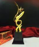 Concesión del trofeo de la estrella del metal con el cristal del diamante