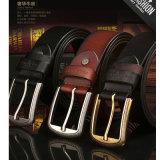 cinghie del cricco del cuoio della mucca di 3.8cm per le cinghie di cuoio genuine degli uomini per gli uomini