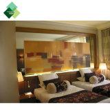 Отель спальня с кроватью размера куин наружного зеркала заднего вида кожи мягкой деревянные кровати изголовье кровати и сбора