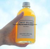 Venda por grosso de bebidas 350 ml geada redonda garrafas de vidro com tampa