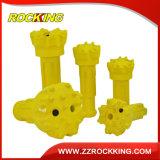 바위를 위한 R32, R38, T38, T45, T51 Retrac&Standard 스레드 드릴용 날 또는 채석장