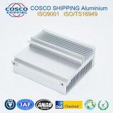 6063-T5 con el perfil de disipador térmico de aluminio anodizado color