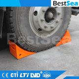 トラック、オレンジタイヤのくさびのためのPUの車輪のくさび