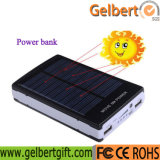 ライトが付いている熱い販売10000mAh携帯用RoHSの太陽充電器力バンク