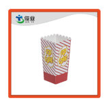 영화관 팝콘 줄무늬를 가진 포장 상자 분홍색 색깔 종이 봉지