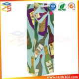 Sacco di carta personalizzato della bottiglia di stampa di marchio piccolo per vino