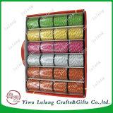10 de hilo trenzado de cuerda de polipropileno de color para las bolsas de papel Caja de regalo