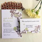 カスタム印刷のクリスマスの金ホイルの結婚式の招待はパックを梳く