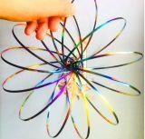 2018 La Venta caliente de acero inoxidable muelle interactiva sensorial Multi Anillo de flujo de Magic Toy