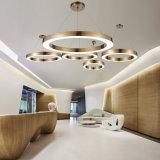 Proyecto personalizado el vestíbulo del hotel anillo circular de pared LED de luz