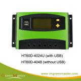 50AMP LCD PWM Controlador Solar com o tempo e o controle de luz