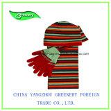 Шлем и шарф зимы печатание жаккарда военно-морского флота детей