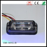 Blaues Color LED Car Surface Mount Lightheads in Lin3 Lens