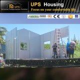 Casa pré-fabricada de montagem rápida custada a resistência permanente residencial e do vento