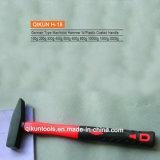 H-19 Matériel de construction des outils à main recouvert de plastique de type allemand Marteau de machiniste