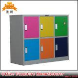 Métal de Module en acier coloré d'école de 6 portes le petit badine le casier
