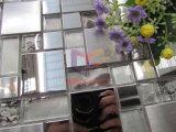Het zilveren Gezicht van de Spiegel en het Gemengde Roestvrij staal van het Malen Gezicht met het Mozaïek van het Kristal (CFM1015)