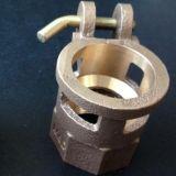 Válvula de bronze da carcaça de areia do OEM com fazer à máquina do CNC