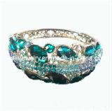 Vintage tono plateado azul zafiro Rhinestone Crystal Bangle Bracelet chapado en plata Joyería de moda de primavera de 2013 elementos de la Moda (PB-087)